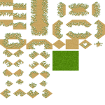 sand to grass tileset